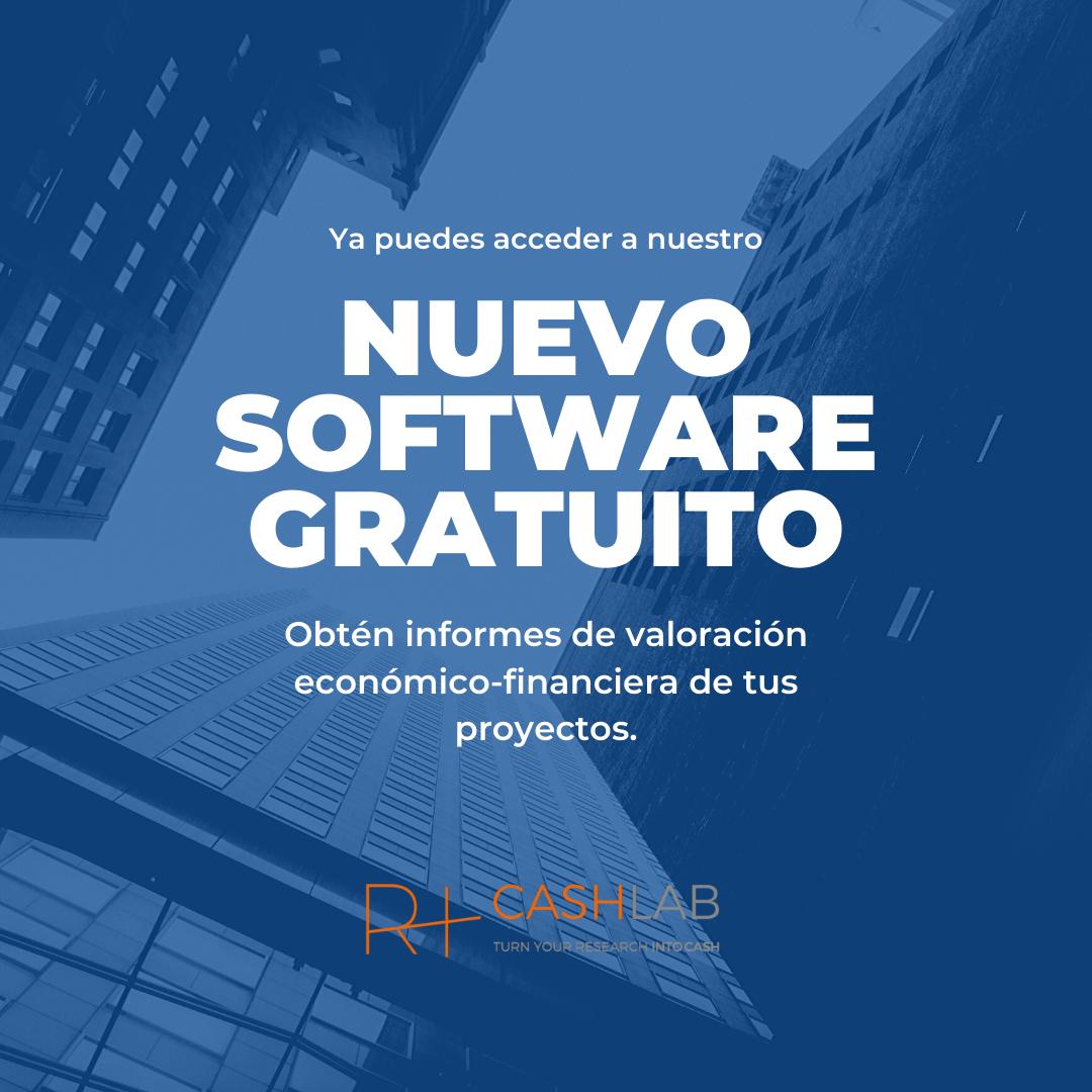 Ya puedes valorar tus proyectos con el software Research+ Cash: te explicamos cómo funciona
