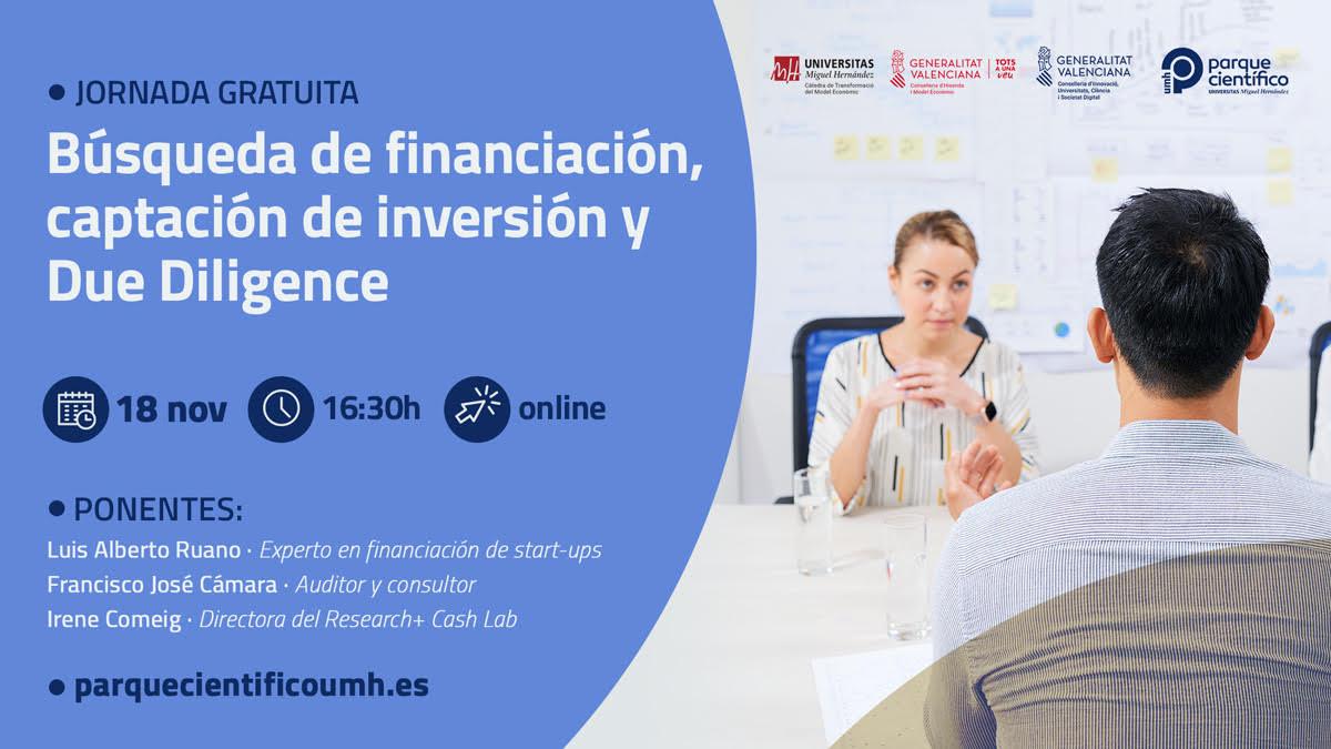 El equipo R+Cash Lab presenta el software Research Cash 2.0 en el Parque Científico de la Universitat Miguel Hernández